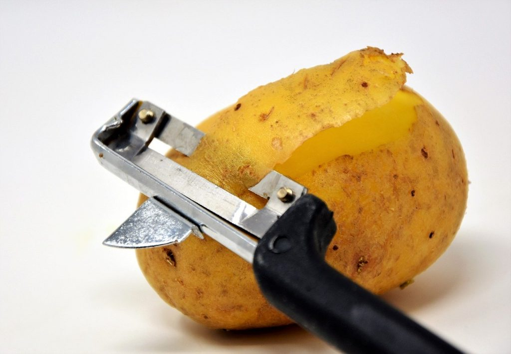 potato, potato peeler, potato skins